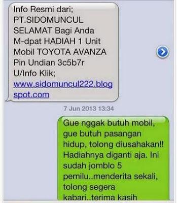 Penipuan SMS Paling Konyol