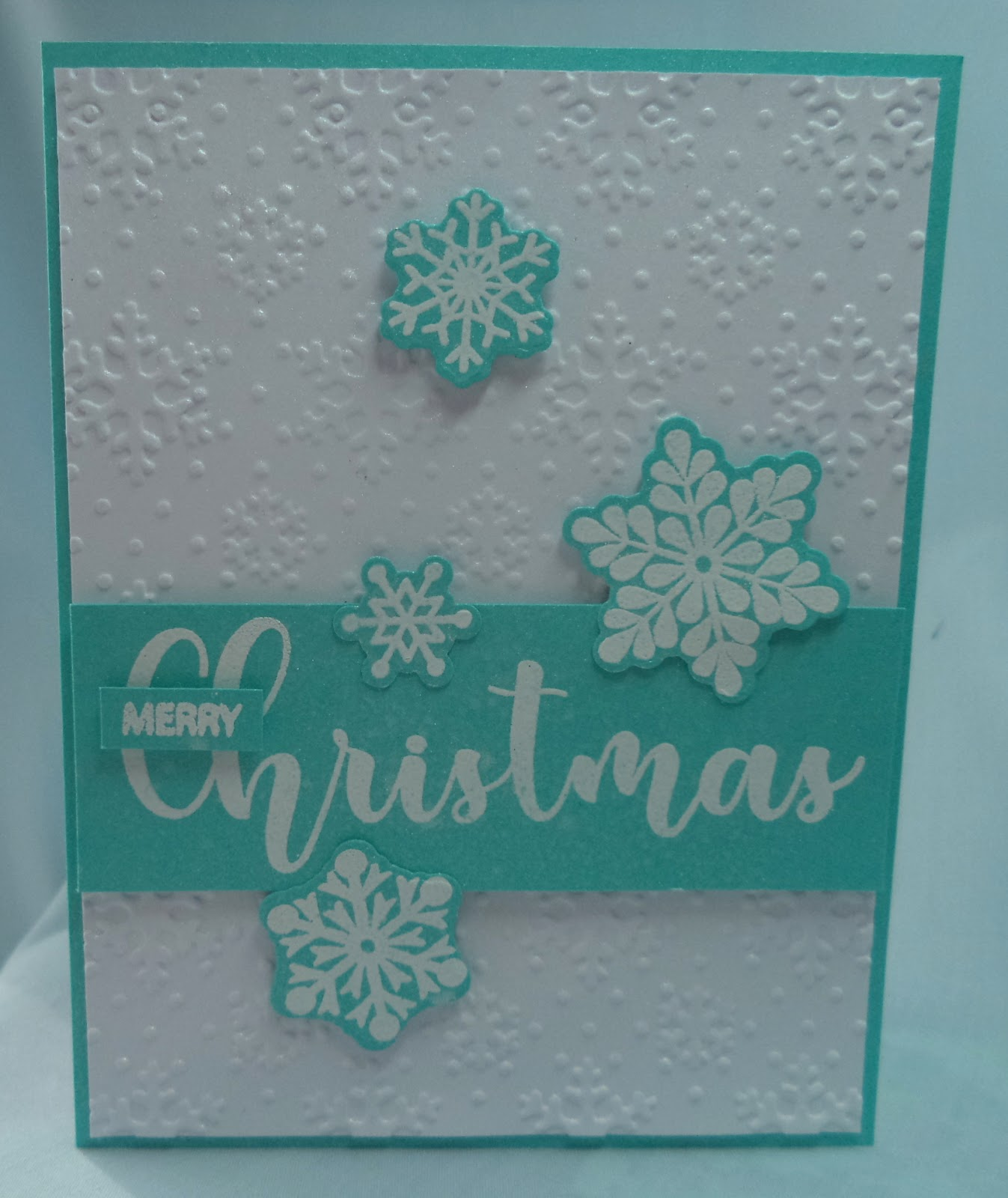 Paper Therapy Ponderings: Snowflake Christmas Card