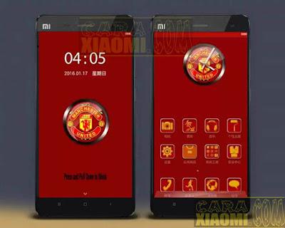 Download Kumpulan Tema MIUI Football Themes Mtz For Xiaomi MU FC