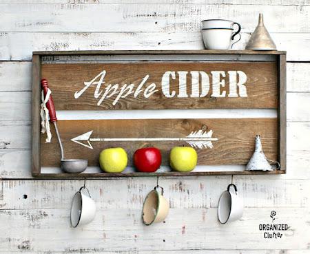 Apple Cider Crate Sign