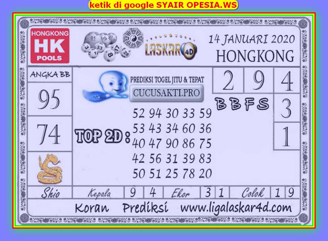 Kode syair Hongkong Selasa 14 Januari 2020 167