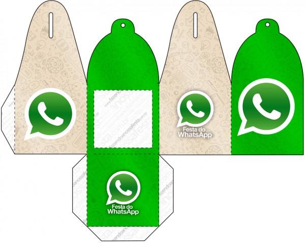Caja para cupcakes, chocoltes o golosinas de WhatsApp.