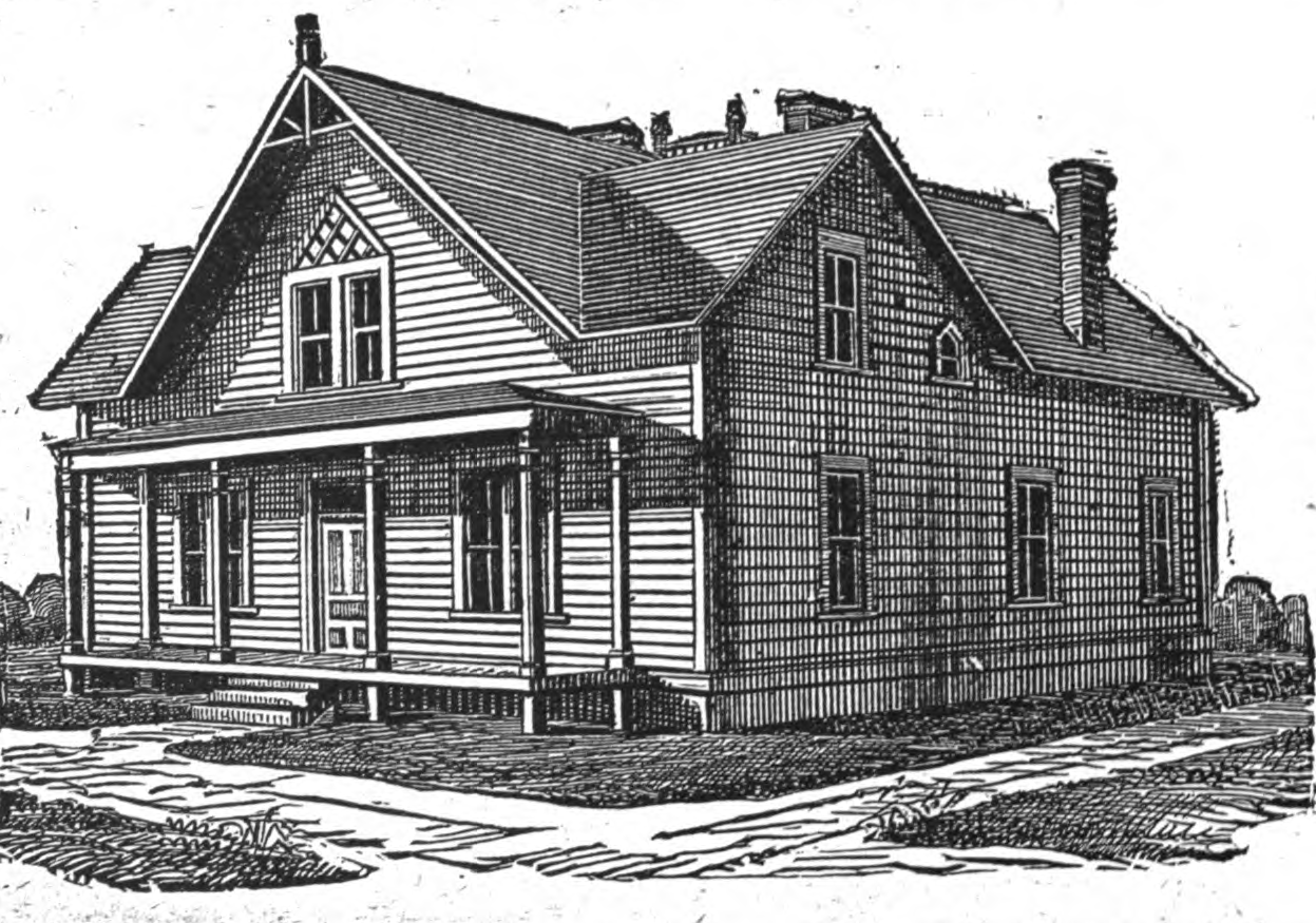 19th Century Historical Tidbits: 1895 Rural House Plans 3