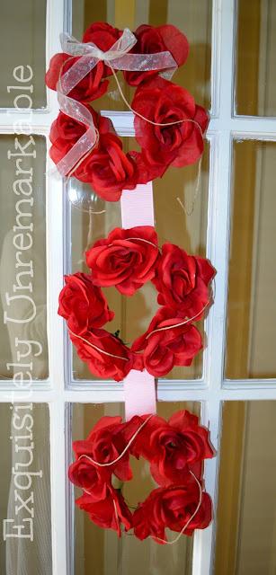 Valentine Triple Wreath