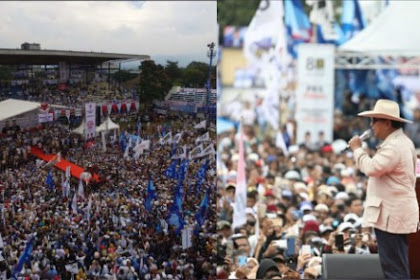 Kampanye di Bandung, Prabowo Minta Maaf Belum Bisa Ngasih Kaos 02 kepada Masyarakat