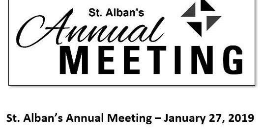 St. Alban's Episcopal Church: Annual Meeting