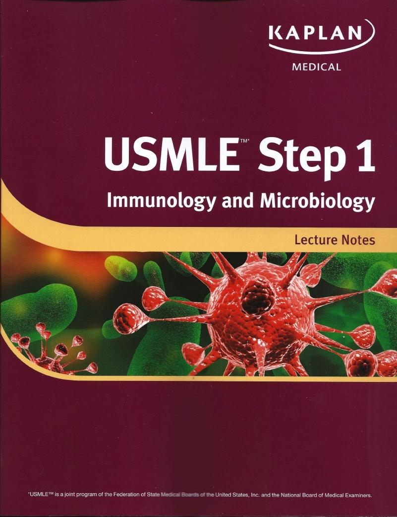 نتيجة بحث الصور عن USMLE. Step 1 Immunology and Microbiology