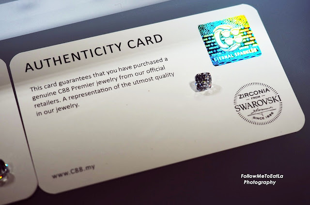 Authenticity Card From C88 Premier