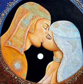 Tú no eres una mujer, tú eres un destino. Art-couple-kissing-beautiful