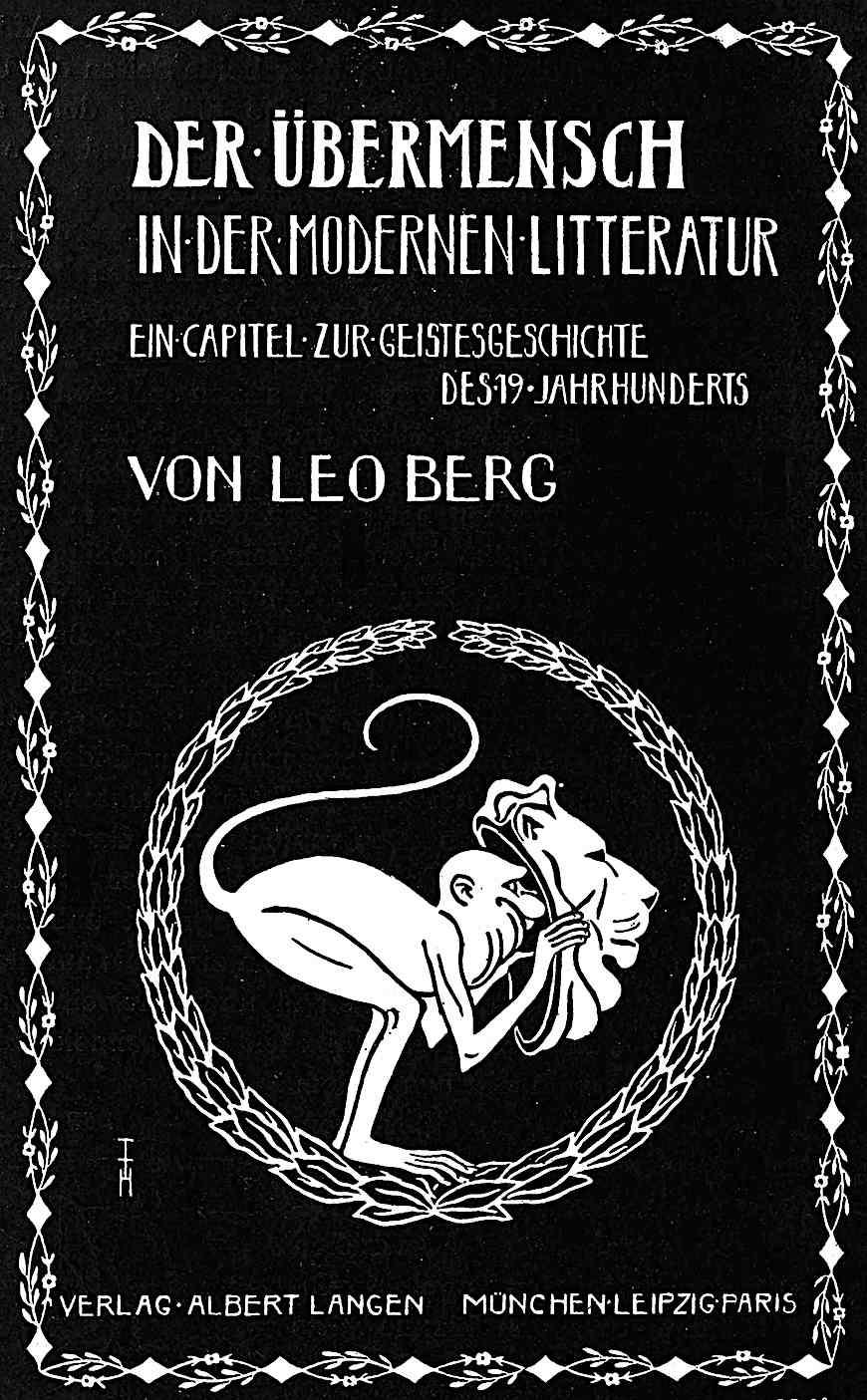 a Thomas Theodor Heine illustration for Der Ubermensch in der Modernen Litteratur, von Leo Berg