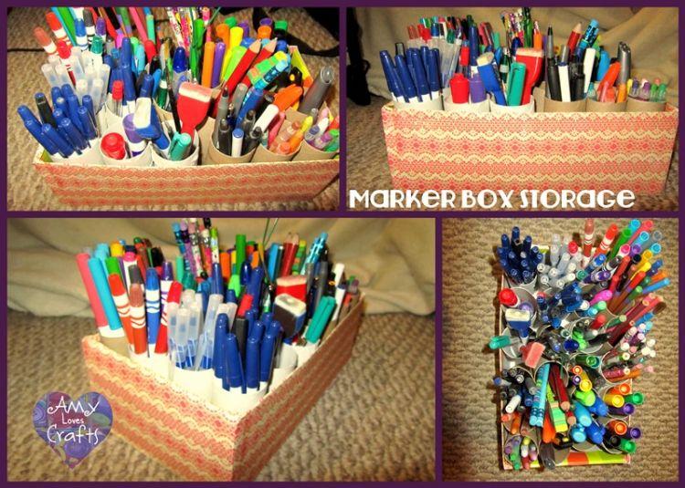 Tempat alat tulis yang terorganisir