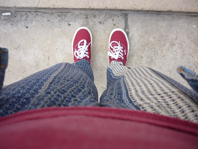 Printed Trousers & Vans | PetiteSilverVixen