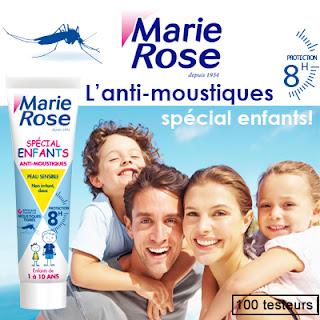 Tetseurs De Produits 100 l'Anti-Moustiques spécial enfants de Marie Rose à tester !