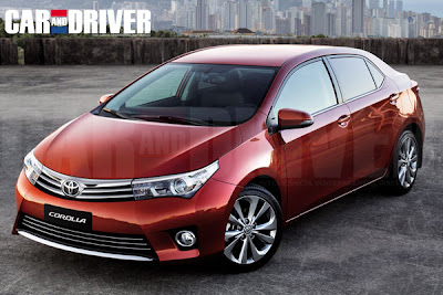 Honda Cars 2014 Toyota Corolla Car And Driver Rendering 2013 New