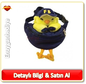 Fenerbahçe Lisanslı Bel Çantası Peluş Çocuk Kanarya