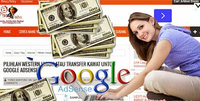 Pilihlah Western Union atau Transfer Kawat Untuk Google Adsense