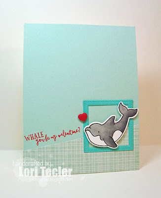 Whale You Be My Valentine? card-designed by Lori Tecler/Inking Aloud-stamps from Avery Elle