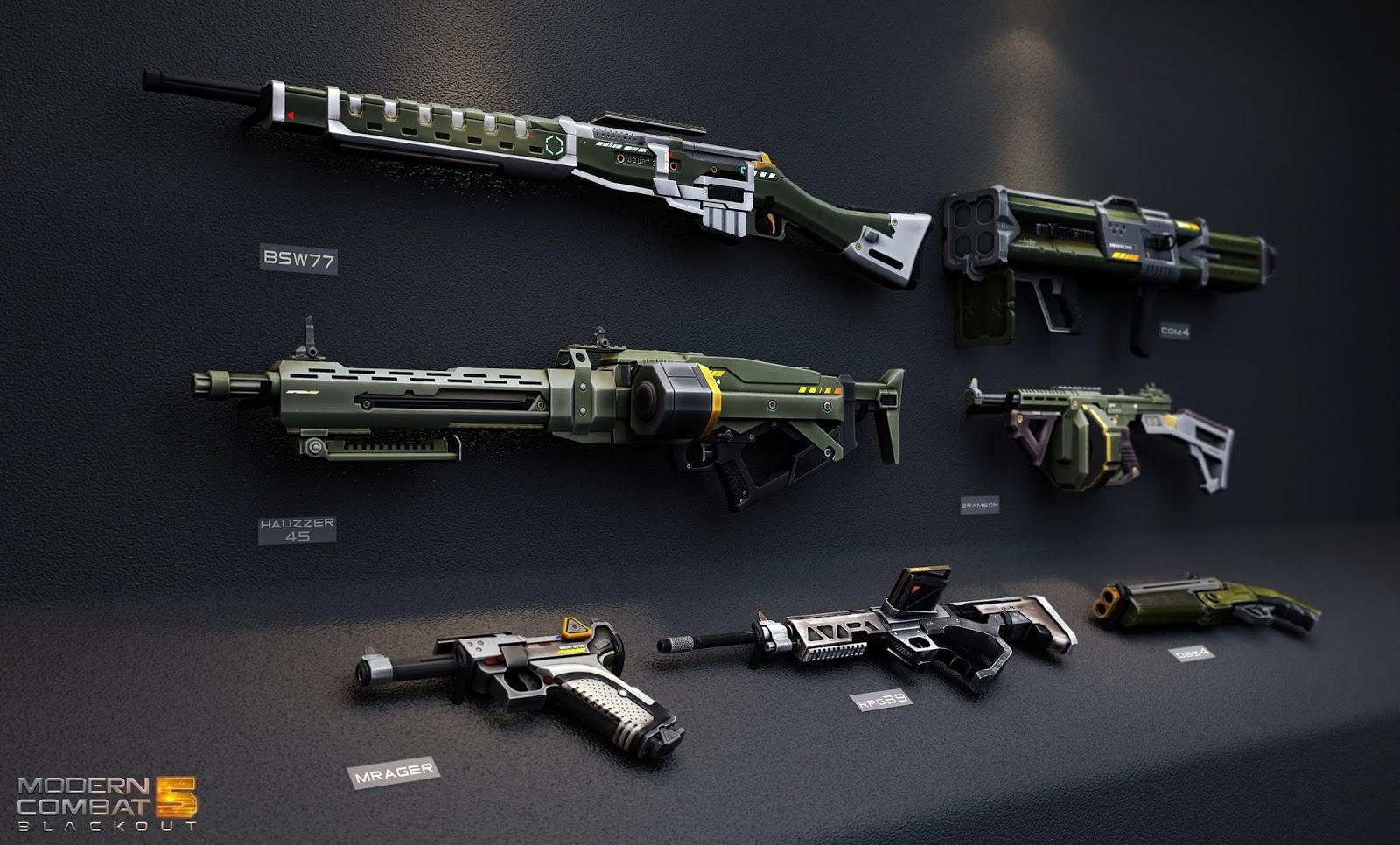 Pistol 3d Wallpaper Descargar Modern Combat 5 Blackout Mega Android Apk