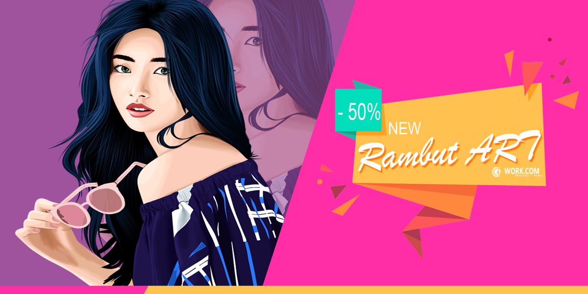 Adobe Photoshop CS4 : Tutorial Vector Line Art Bagian Rambut