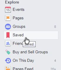 Save A Link/Post On Facebook