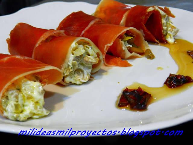 receta de jamón iberico relleno de guiso de setas13
