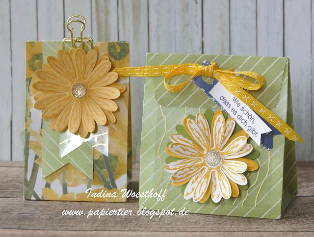 Gänseblümchen | Stampin' Up! | Daisy | papiertier Indina | Verpackung
