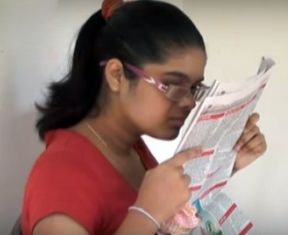 Student with weak eyesight wrote for exam in Galle with normal pen just like others