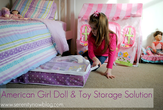 American Girl Doll and Toy Storage Ideas, from Serenity Now