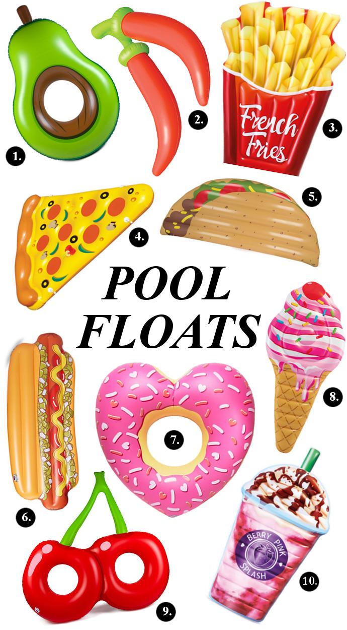 fun, summer, food, pool floats