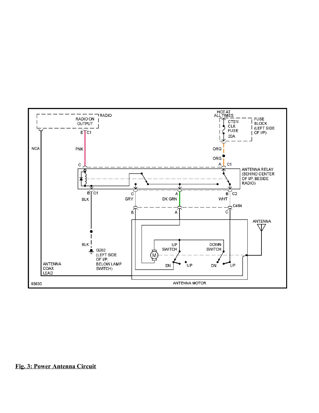 1995 Chevrolet Monte Carlo SS Complete Wiring Diagram Part