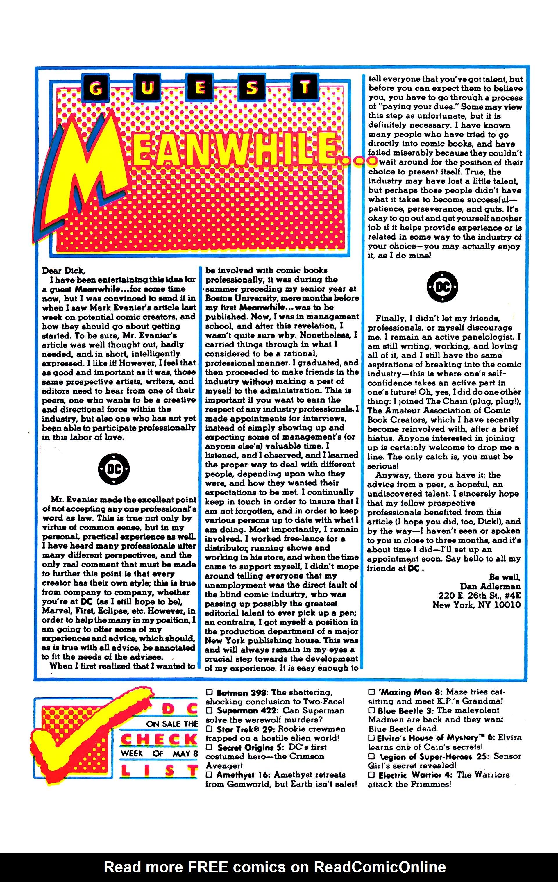Read online Secret Origins (1986) comic -  Issue #5 - 30
