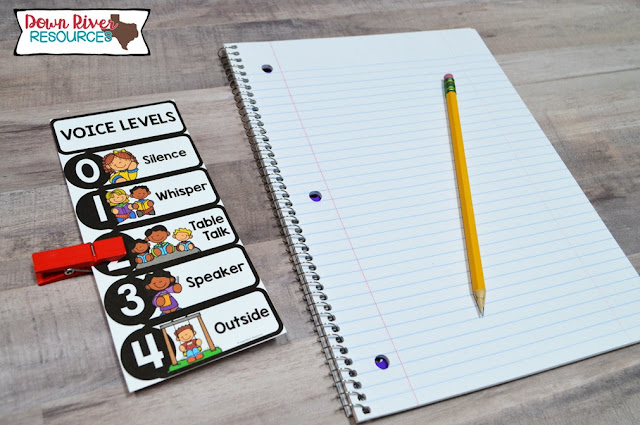 Students can keep a personal voice level chart at their desk. This can be used as an additional visual support for students. Add a colorful clothespin to keep students focused on a particular voice level for a specified activity.