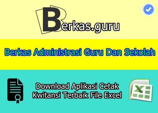 Download Aplikasi Cetak Kwitansi Terbaik File Excel