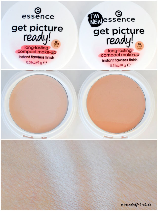 die edelfabrik, essence, get picture ready, long lasting compact, swatch