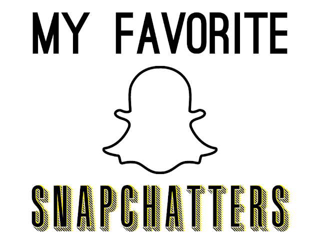 "Snapchat logo with text reading ""My Favorite Snapchatters"""