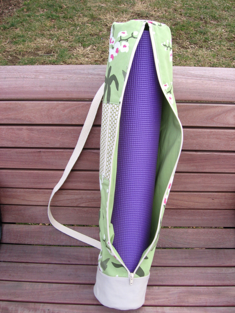 Needle And Spatula Yoga Mat Bag Sewing Pattern And Giveaway