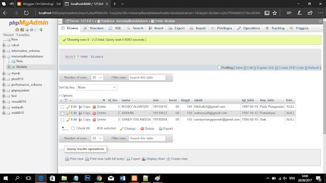 Cara Menampilkan Data Dari Database MySQL Dalam Bentuk Tabel Di Pemograman PHP Dan HTML