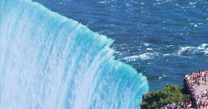 Niagara Falls, Border of Ontario, Canada & New York ...
