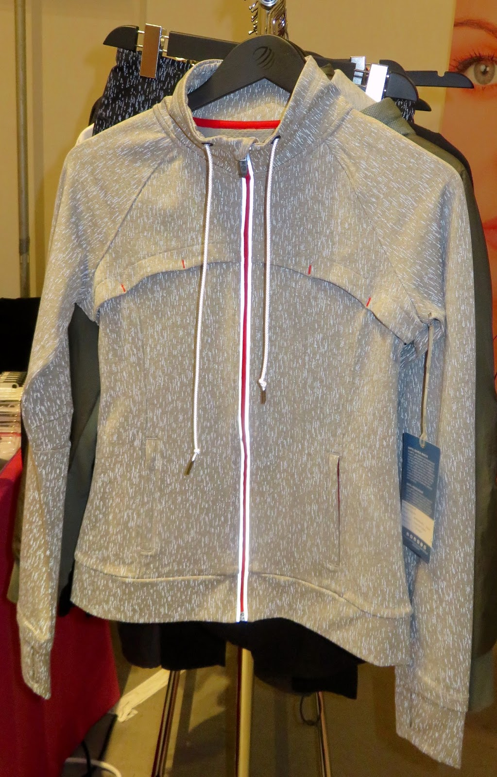 c4506261759b1 This jacket -glows in the dark when hit with light...serious  reflective-overall pattern and trim...thumbholes for great fit