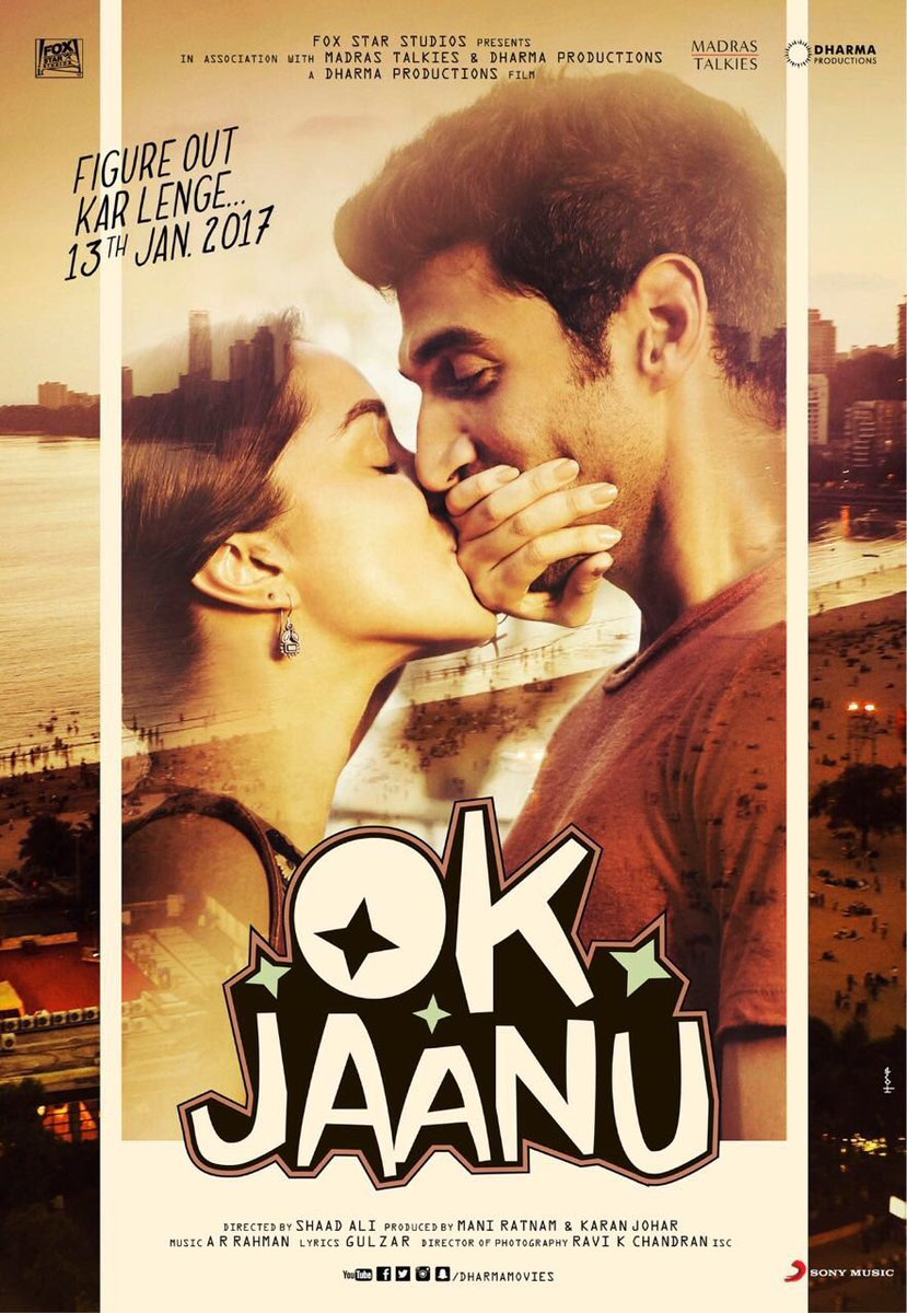 Ok Jaanu next upcoming movie first look, Poster of Aditya Roy Kapur and Shraddha Kapoor download first look Poster, release date