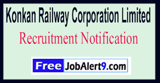KRCL Konkan Railway Corporation Limited Recruitment Notification 2017 Last Date 28-05-2017