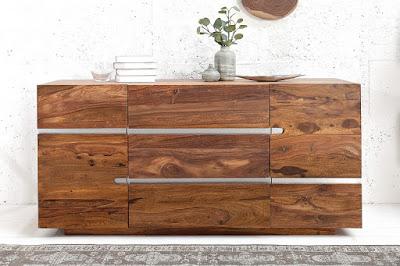 komody Reaction, nabytok z masivneho dreva, nabytok z dreva a kovu