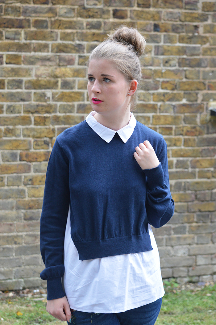 french connection shirt jumper bloggers