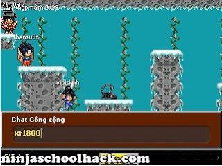 ninja school 132 auto click lenh chat