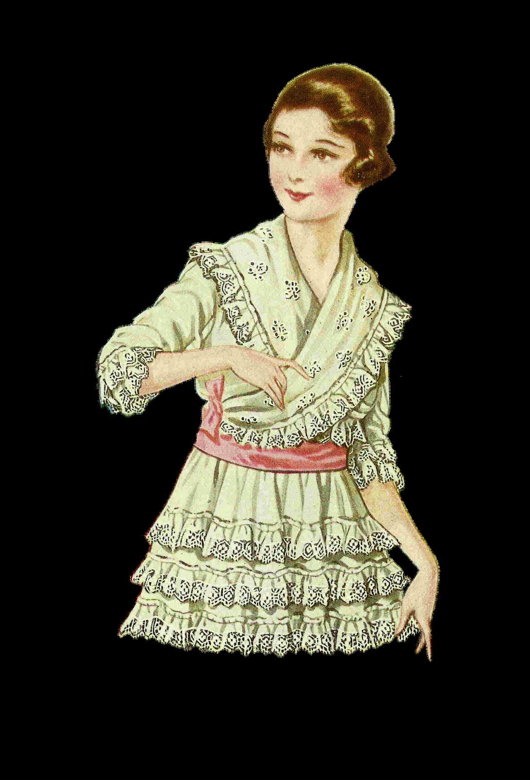 vintage dresses clipart - photo #45