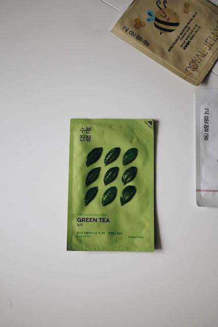 maska w płachcie zielona herbata