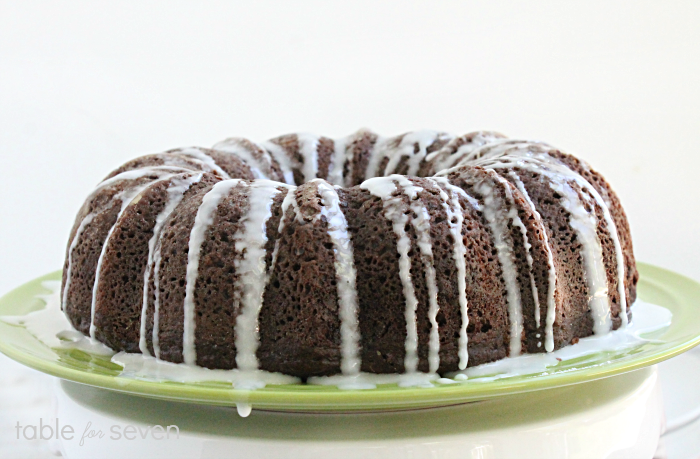Double Chocolate Sour Cream Bundt Cake • Table for Seven