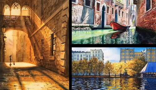 00-Igor-Dubovoy-Realistic-Urban-Watercolor-Paintings-www-designstack-co