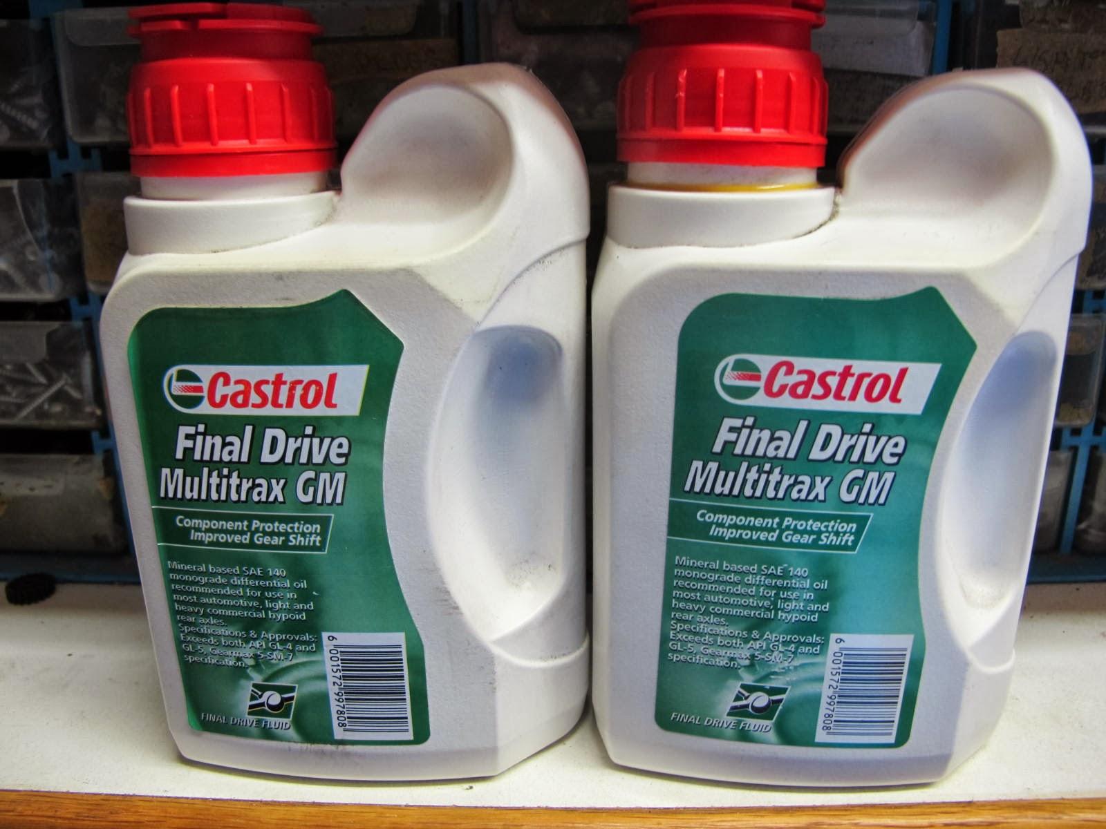 CKD Boats - Roy Mc Bride: Castrol Multitrax 140 grade gear oil
