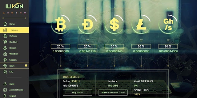 Cara Mining Bitcoin Gratis 100 GH/s dari Ilivion Terbaru